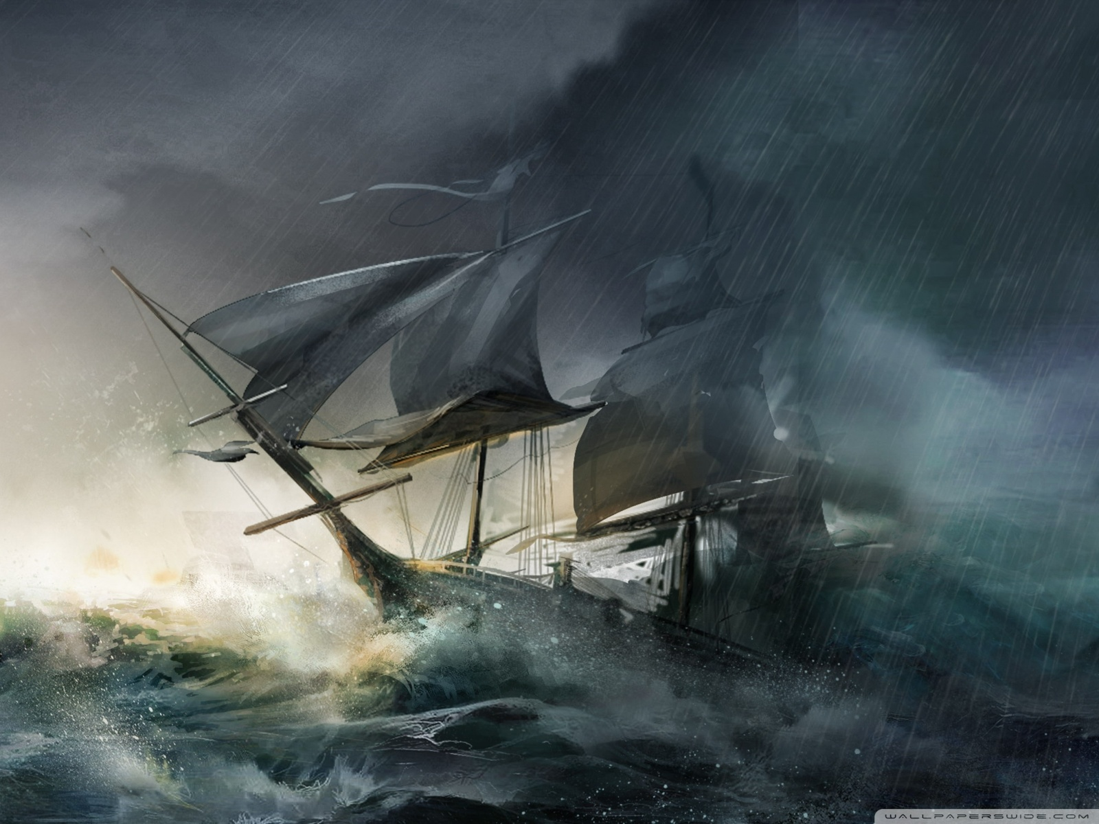 Sinking Pirate Ship pirate ship painting top hd images for free